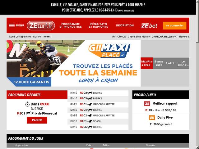 Avis sur Zeturf : un site internet pour parier sur les courses de ...