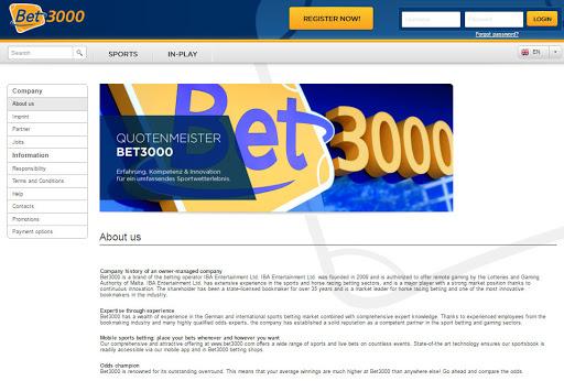 Bet3000 Odds - Now secure big profits! | ScamTest
