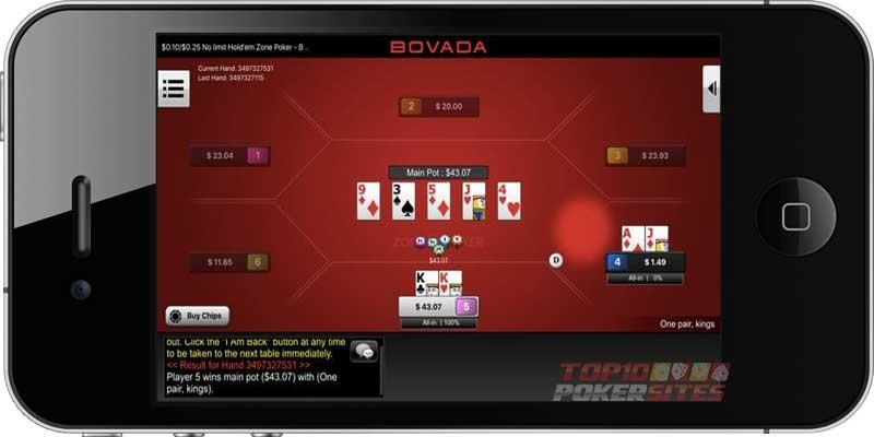 Bovada Poker Mobile