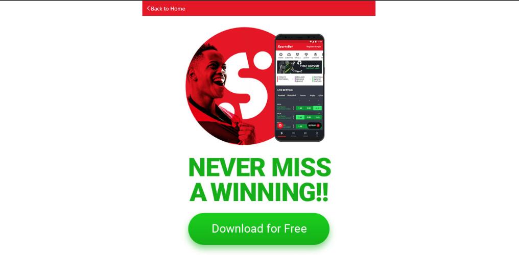 Download Sportybet App