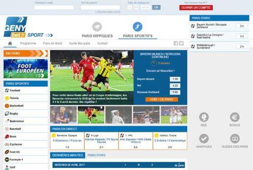 GenyBet.fr, jouez avec 250€ de bonus gratuit