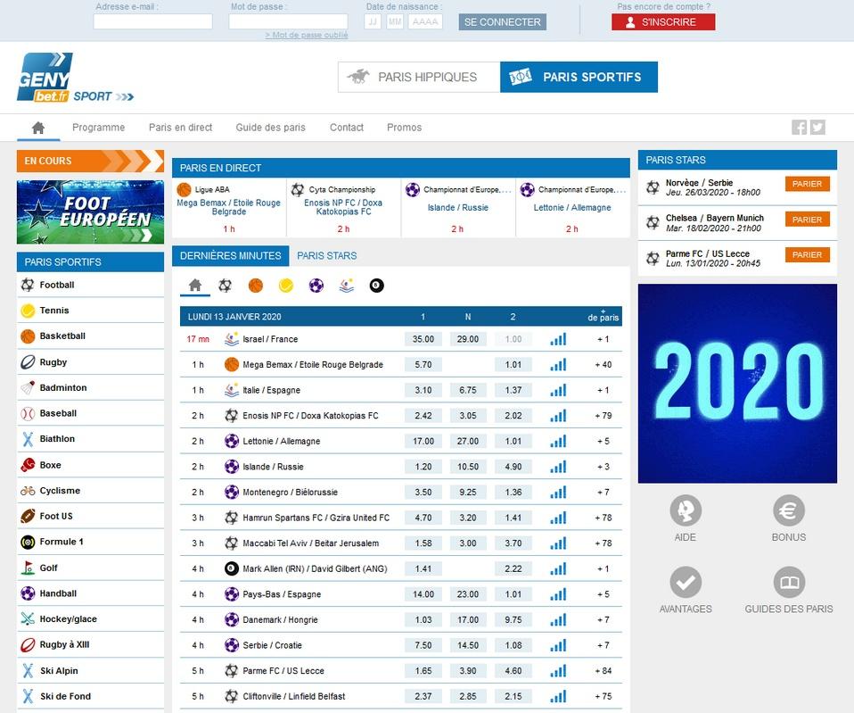 Genybet Sports Review + €250 Bonus - Best 100 Bookmakers