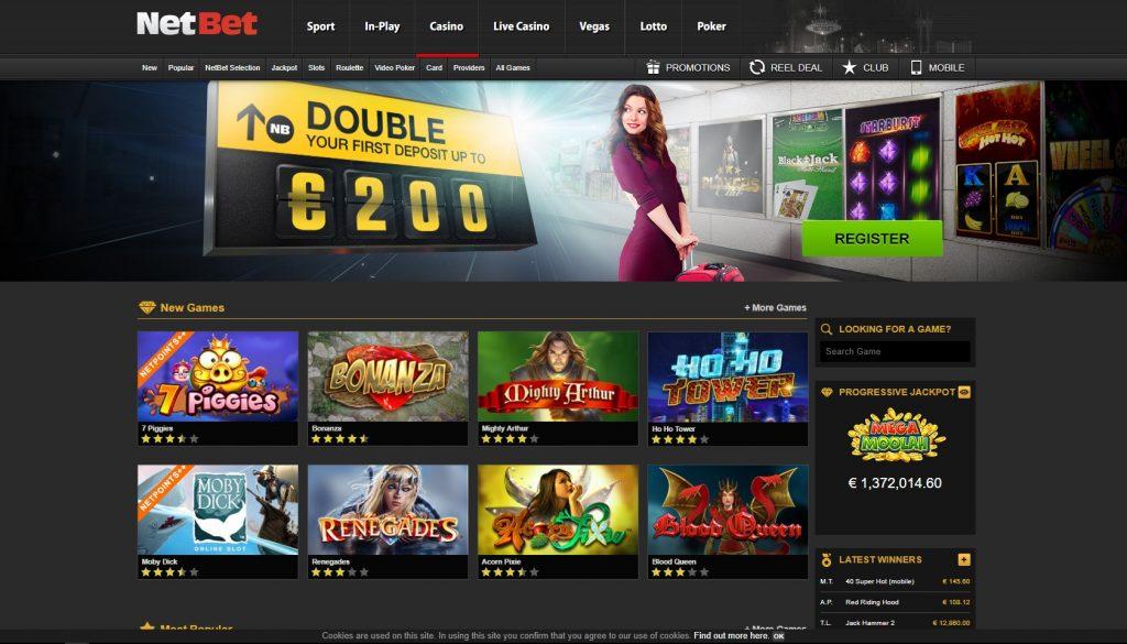 NetBet Casino Review – 100% Deposit Match + 20 Spins - Casino Butler