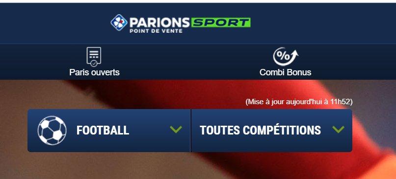 Paris Sportif Parions Sports : premier pari remboursé à 100% en cash