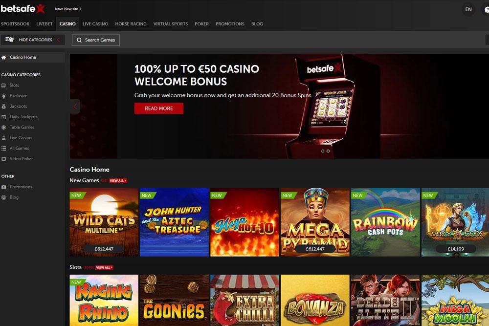 Review of online casino Betsafe.com - Casino Israel