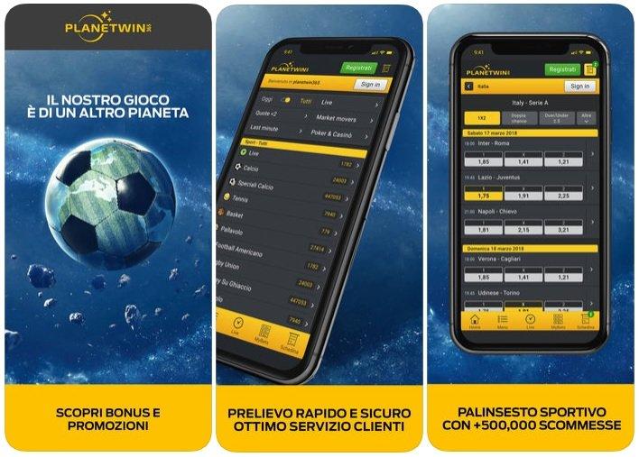 Scarica l'app di PlanetWin365 per Android Mobile APK | Scommesse