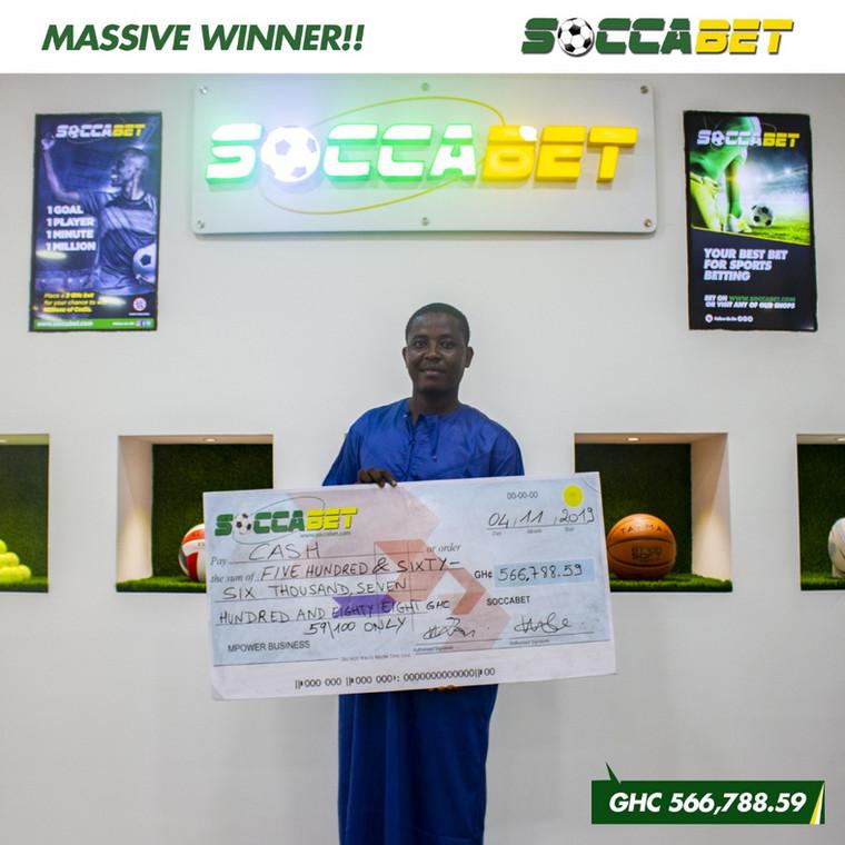 Soccabet: Man wins whopping GH¢566,000 [ARTICLE] - Pulse Ghana