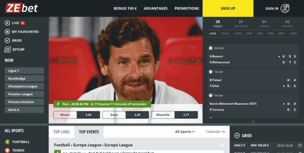 Zebet. Online Sportsbetting - Football, Rugby, Tennis, Basketball, ...